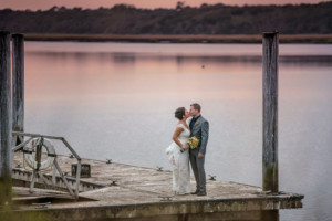 Couple on our pier overlooking Guana River